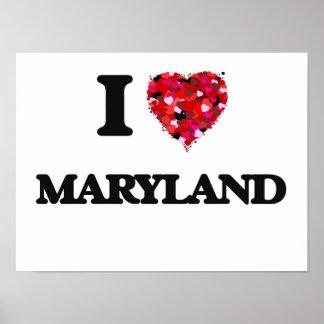 I Love Maryland Poster