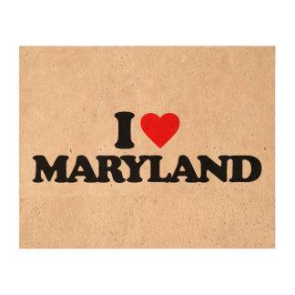 I LOVE MARYLAND QUEORK PHOTO PRINTS