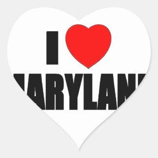 I Love Maryland Heart Sticker