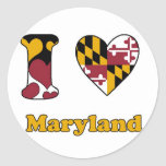 I love Maryland Stickers