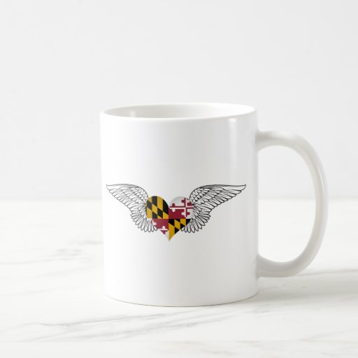 I Love Maryland -wings Coffee Mug