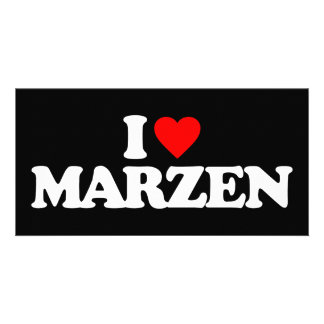 I LOVE MARZEN PICTURE CARD