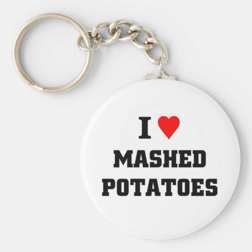 I love Mashed Potatoes Key Chain