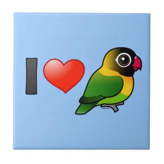I Love Masked Lovebirds Tile
