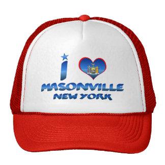 I love Masonville, New York Trucker Hats