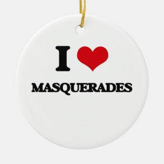I Love Masquerades Ornament