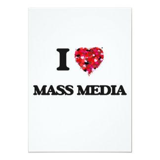 I Love Mass Media 5x7 Paper Invitation Card