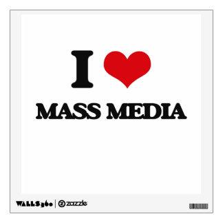 I Love Mass Media Wall Decals