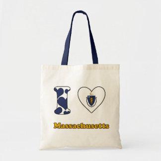 I love Massachusetts Budget Tote Bag