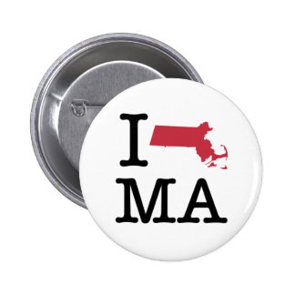 I Love Massachusetts Pin