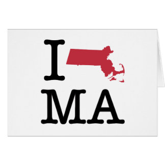 I Love Massachusetts Card