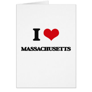 I Love Massachusetts Greeting Card