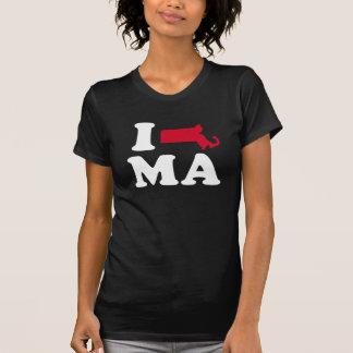 I LOVE MASSACHUSETTS - CLASSIC - Map Design -.png Tee Shirt
