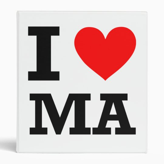 I Love Massachusetts Design Binder