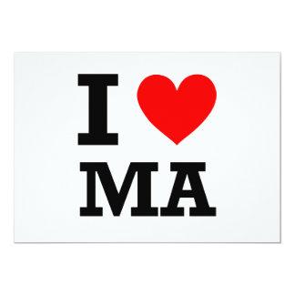 I Love Massachusetts Design Card