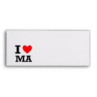 I Love Massachusetts Design Envelope