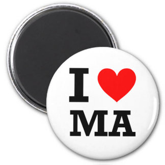 I Love Massachusetts Design Magnet