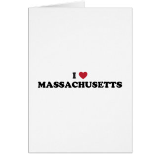I Love Massachusetts Greeting Card