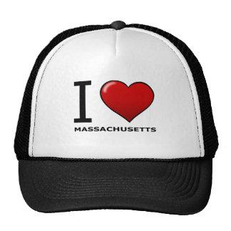 I LOVE MASSACHUSETTS TRUCKER HAT