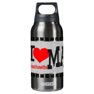 I love Massachusetts - Insulated Water Bottle
