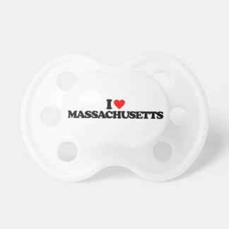 I LOVE MASSACHUSETTS PACIFIERS