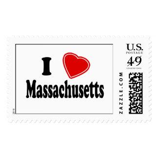I Love Massachusetts Stamp
