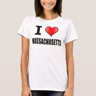 I Love Massachusetts T-Shirt - Women