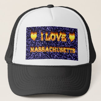I love massachusetts trucker hat