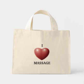 I LOVE MASSAGE CANVAS BAGS