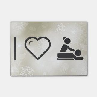 I Love Massage Post-it Notes