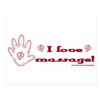 I Love Massage! Postcard
