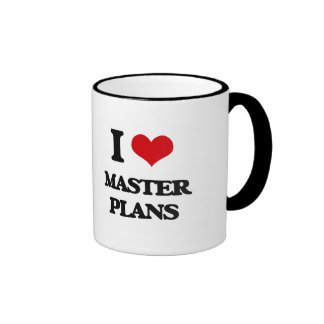 I Love Master Plans Mugs