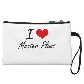 I Love Master Plans Wristlet Purses