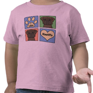 I Love Mastiffs Tshirts