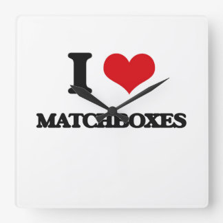 I Love Matchboxes Square Wallclocks