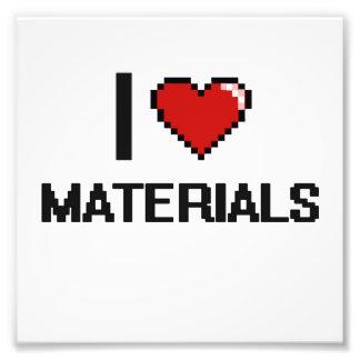 I Love Materials Digital Design Photo Print