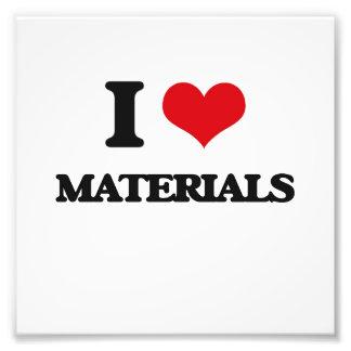 I Love Materials Photo Print