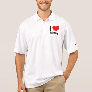 i love mates polo t-shirt