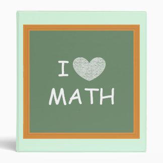 I Love Math 3 Ring Binder