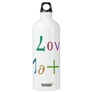 I Love Math Aluminum Water Bottle