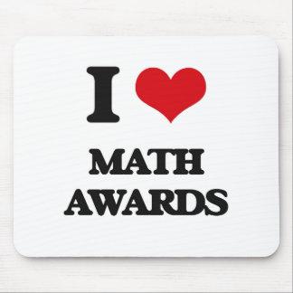 I Love Math Awards Mouse Pad