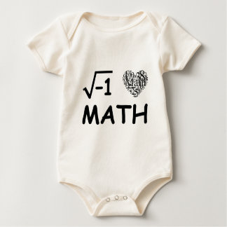 I love math baby bodysuit