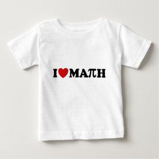 I Love Math Baby T-Shirt