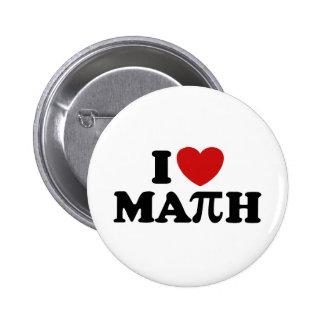 I Love Math Pin