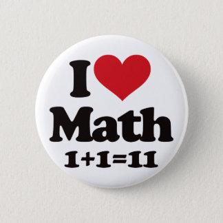 I Love Math! Button