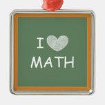 I Love Math Christmas Ornaments