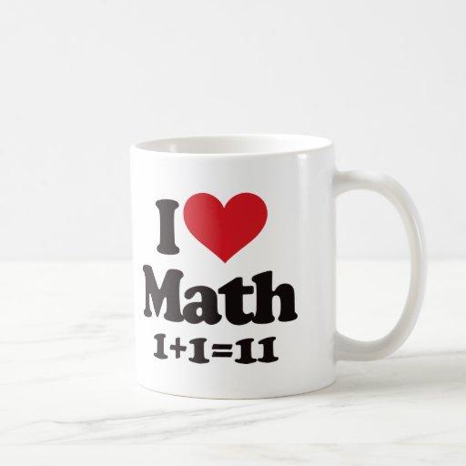 I Love Math! Classic White Coffee Mug
