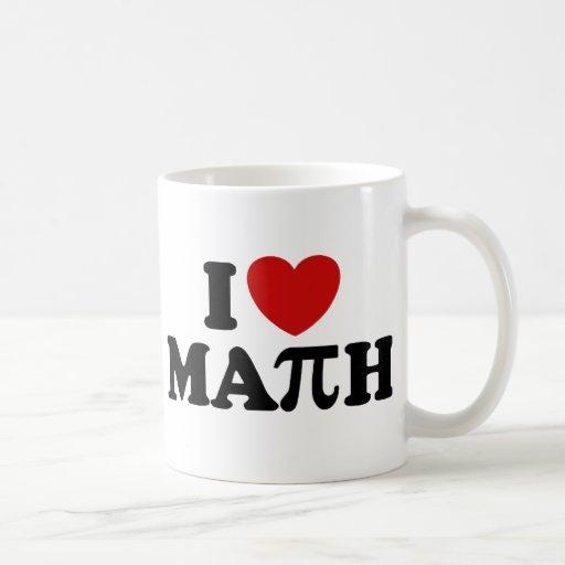 I Love Math Coffee Mugs