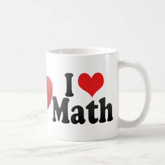 I Love Math Coffee Mugs