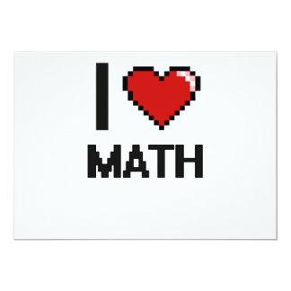 I Love Math Digital Design 5x7 Paper Invitation Card